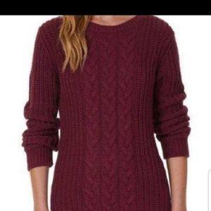 Nautica XL Burgundy Knit Sweater